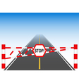 The road with a barrier vector | Price: 1 Credit (USD $1)