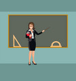 the teacher stands vector image