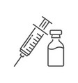 Vaccine related thin line icon
