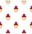 valentine cupcake pattern seamless vector image vector image
