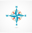 wind rose icon vector image vector image