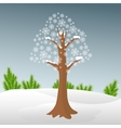 Winter tree in snow vector image
