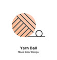 yarn ball mono color icon vector image