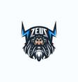 zeus esport gaming mascot logo template vector image