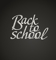 Back to school greeting card Back to school vector image