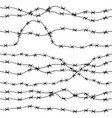 barbed wire hand drawn seamless pattern vector image