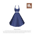 retro dress in realistic style on white background vector image