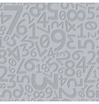 Abstract grey extruded random numbers seamless vector image