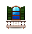 Window with balcony isolated on white vector image