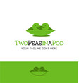 2 peas in a pod vector image vector image