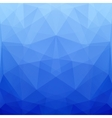 Abstract Blue Polygonal Background for Design vector image vector image