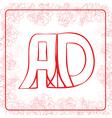 AD monogram vector image vector image