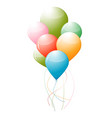 air ballooning in festival on isolated vector image vector image