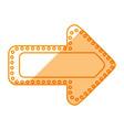 arrow signal light vector image vector image