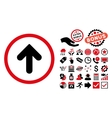Arrow Up Flat Icon with Bonus vector image vector image