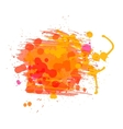 Artistic watercolor background of sunny red orange vector image