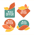 autumn offer vector image vector image