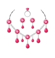 Beautiful Jewelry Accessories Set vector image