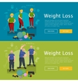 before and after weight loss senior concept vector image vector image