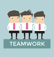 Businessman teamwork vector image vector image