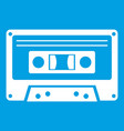 cassette tape icon white vector image vector image