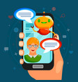 chat bot flat composition vector image