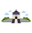 chiang kai-shek memorial complex vector image