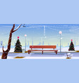christmas in city park empty public garden view vector image vector image