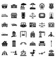 city element icons set simple style vector image vector image