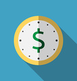 Clock with dollar icon vector image