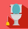 comfort toilet icon flat style vector image