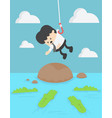 concept businessman victim into water full with vector image vector image