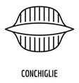 conchiglie icon outline style vector image vector image
