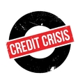 Credit Crisis rubber stamp vector image vector image