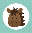 cute horse head tender character vector image