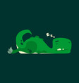 cute sleeping dinosaur dino rex cartoon character vector image vector image