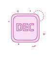 december calender icon design vector image vector image