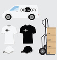 Delivery company design vector image vector image