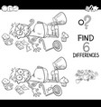 differences with boy and sweets coloring book vector image vector image