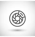 Disk brake line icon vector image vector image