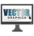 drawing pen on computer screen vector image vector image