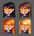 emotion icons rage female vector image vector image