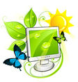 environment friendly computer vector image vector image