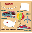 Flat map of Wyoming vector image vector image