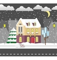 Flat style winter house Cottage vector image vector image