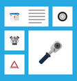flat workshop set of accumulator ratchet tire vector image vector image