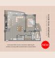 floor plan a modern apartment vector image vector image