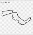 grand prix race track vector image vector image