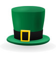 Green St Patrick Hat vector image