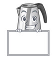 grinning with board electric stainless steel vector image vector image